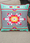 Kaleidoscope of Comfort Pillow - Cotton, Multi, Mint, Folk Art, Good, Boho