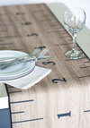 House Rules Table Runner - Tan, Tan / Cream, Vintage Inspired, Quirky, Good