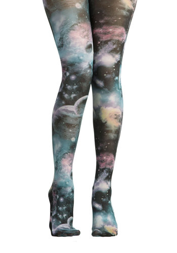 Space-Tights Continuum by Ruby Rocks - Multi, Print, Quirky, International Designer, Black, Novelty Print, Statement