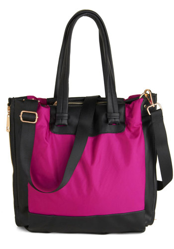 Vegas Voyage Bag - Pink, Brown, Solid, Faux Leather, Work, Travel, Beach/Resort