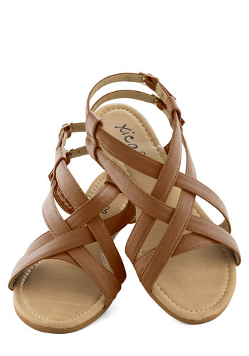 Saunter in the Sand Sandal in Dune - Tan, Casual, Boho, Flat, Faux Leather, Summer
