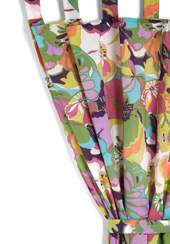 View From the Tropics Curtain - Multi, Multi, Boho, 70s