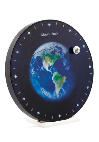 Stay a Little Orbit Longer Clock - Black, Green, Blue, Dorm Decor, Scholastic/Collegiate, Good