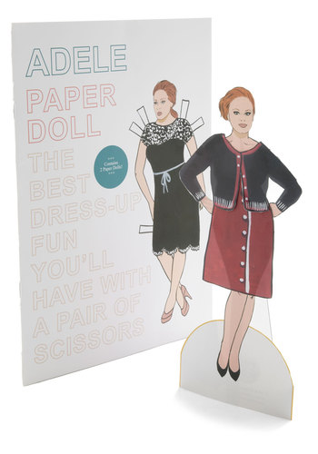 Adele Paper Doll Set - Multi, Music, Handmade & DIY