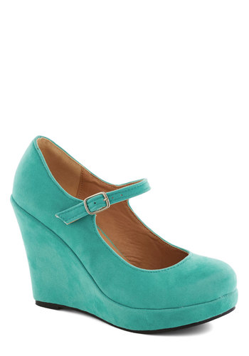 Take the Podium Wedge - Green, Solid, High, Platform, Wedge, Mary Jane, Party, Girls Night Out, Daytime Party