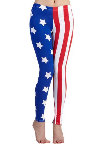 Fresh Take Leggings in Flag