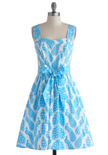 In Full Plume Dress