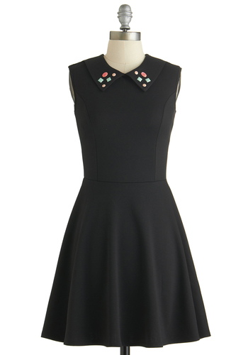 Arcade for Each Other Dress - Mid-length, Black, Rhinestones, Party, Girls Night Out, 80s, Exclusives