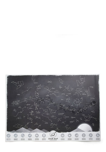 Galaxy for Yourself Print - Black, White, Dorm Decor, Scholastic/Collegiate, Good