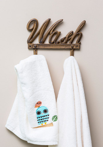 Hang on Every Word Wall Hooks - Brown, Solid, Rustic