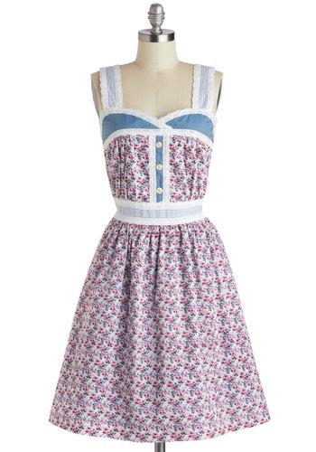 Blue Ribbon Bouquet Dress