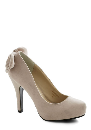 Standout Ovation Heel in Beige - Tan, Solid, Bows, Work, High, Platform, Special Occasion, Prom, Wedding, Party, Girls Night Out, Bride