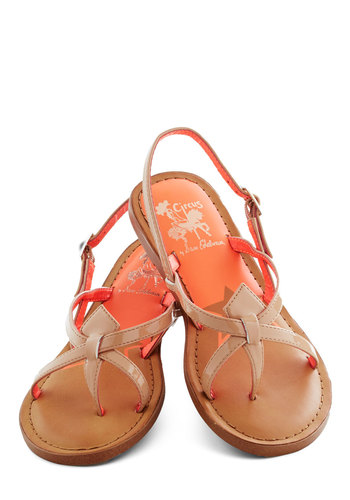 Road Navigator Sandal in Desert - Tan, Solid, Cutout, Flat, Strappy, Variation, Faux Leather, Casual, Beach/Resort, Summer