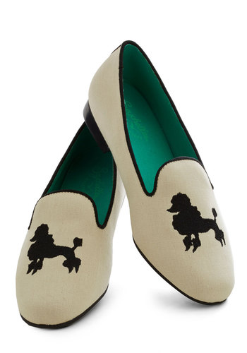 What Will They Say Flat by Seychelles - Cream, Black, Print with Animals, Trim, Quirky, Low, Casual