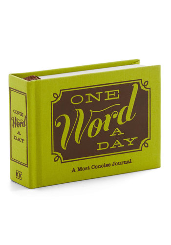 One Word a Day Journal by Knock Knock - Green, Brown, Scholastic/Collegiate, Good