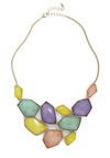 Treasured Friend Necklace in Pastels - Multi, Gold, Solid, Statement, Pastel, Variation