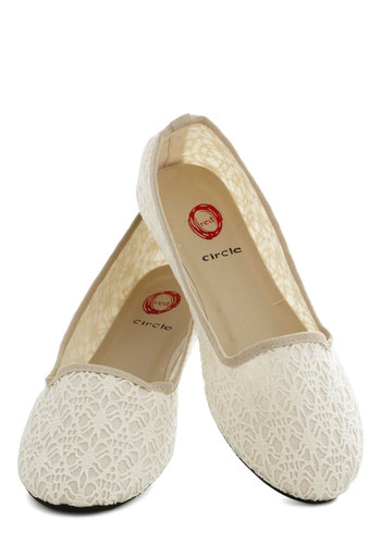 Shore-Footed Flat - Cream, Crochet, Wedding, Bridesmaid, Flat, Spring