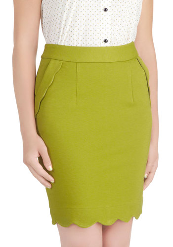 Olive Occasion Skirt