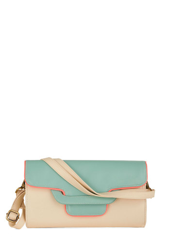Uptown Girly Bag - Pink, Solid, Trim, Pastel, Colorblocking, Green, White