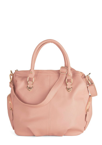 Recital or Nothing Bag - Pink, Solid, Pockets, Faux Leather, Pastel, Minimal