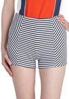 Marina on My Mind Shorts - Blue, White, Stripes, Beach/Resort, Nautical, Pinup, High Waist, Short, Casual, Summer