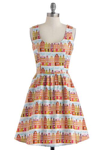 Rainbow Row Dress in Citrus