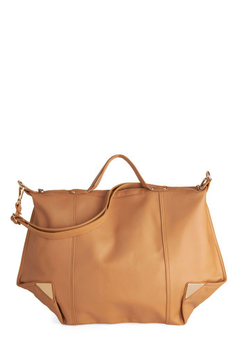 Favorite Reading Spot Bag - Tan, Solid, Faux Leather, Work, Scholastic/Collegiate