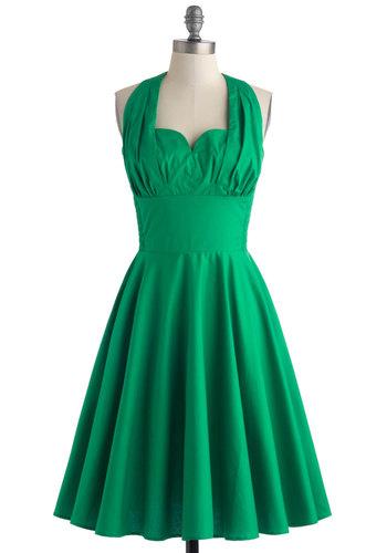 Retro Reminisce Dress in Green