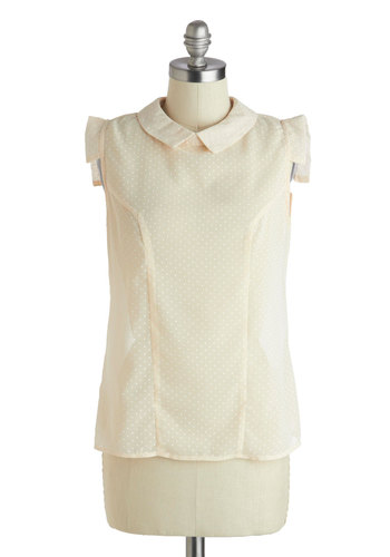 Isn't She Bubbly? Top - Mid-length, Cream, Casual