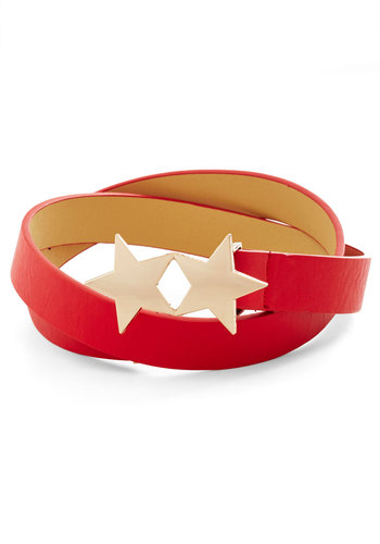 Star Me Up Belt - Red, Gold, Solid, Statement