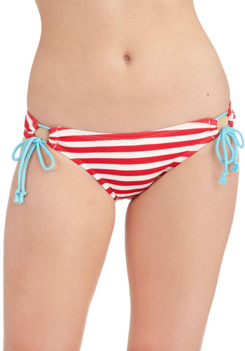 Cabana Smoothie Swimsuit Bottom - Red, Blue, White, Stripes, Bows, Beach/Resort, Nautical, Summer