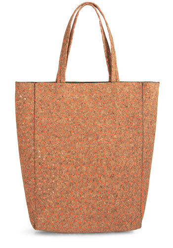 County Cork Bag - Tan, Coral, Print, Work, Travel, Quirky, Minimal