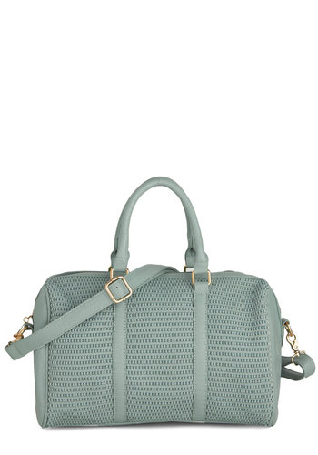The Bowled and the Beautiful Bag - Mint, Solid, Woven, Casual, Faux Leather