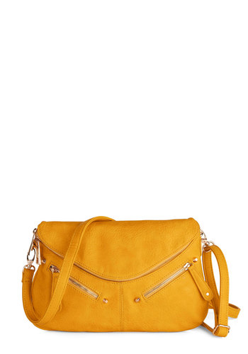 Mild as Maize Bag - Yellow, Solid, Exposed zipper, Nautical