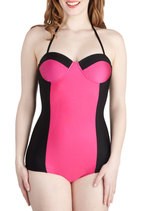 Saved by the Swell One Piece in Magenta