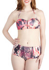 Start the Fireworks Two Piece by Motel - Pink, Multi, Beach/Resort, Halter, Summer, Black, Print, International Designer