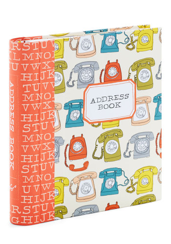 Every Ring in Order Address Book by Chronicle Books - Multi, Orange, Novelty Print, Work, Dorm Decor, Good