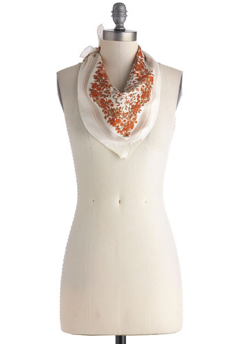 Vintage Orange Spice of Life Scarf