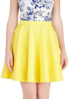 Sunlight of My Life Skirt - Yellow, Solid, Casual, Summer, Short