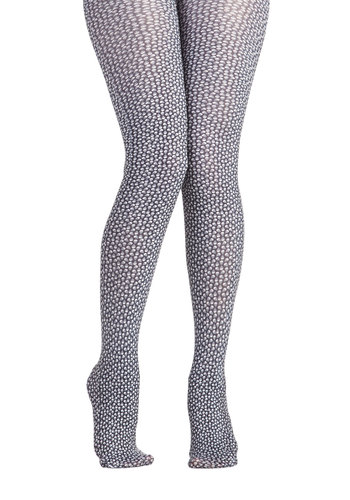 Skull That and More Tights by Look From London - Black, White, Novelty Print, Statement, Steampunk, Halloween