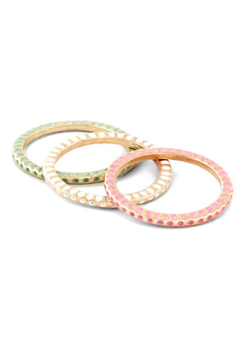 Triple Scoop Rings - Gold, Pastel, Green, Pink, White