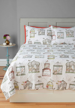 Bright and Early Bird Quilt Set in Full/Queen