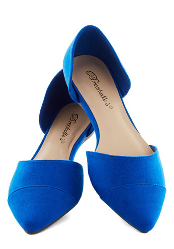 Looking Up-tempo Flat in Cobalt - Blue, Solid, Minimal, Flat, Work, Variation