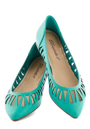 Set 'Til Sunset Flat - Solid, Cutout, Flat, Faux Leather, Blue, Work, Daytime Party, Summer