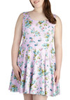 Day off the Grid Dress in Lilac - Plus Size - Purple, Green, Blue, Floral, Casual, Summer, Exclusives