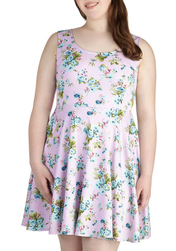 Day off the Grid Dress in Lilac - Plus Size