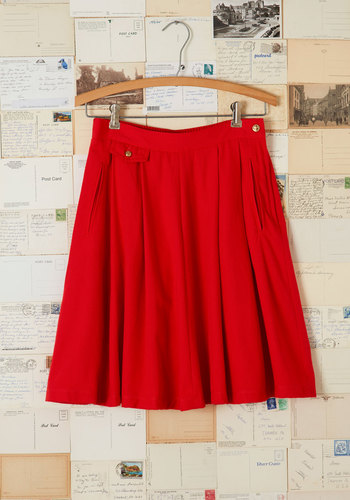 Vintage Swish You Were Here Skirt