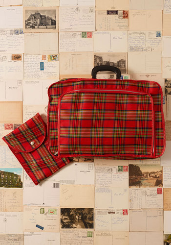 Vintage Just in Suitcase Folding Luggage