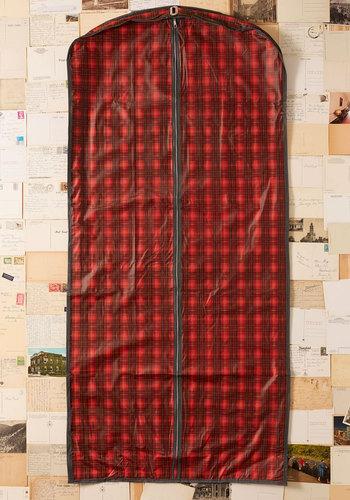 Vintage Let the Grid Times Roll Garment Bag