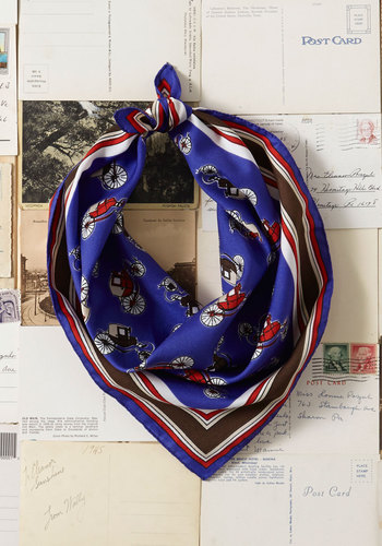 Vintage Along for the Coach Ride Scarf